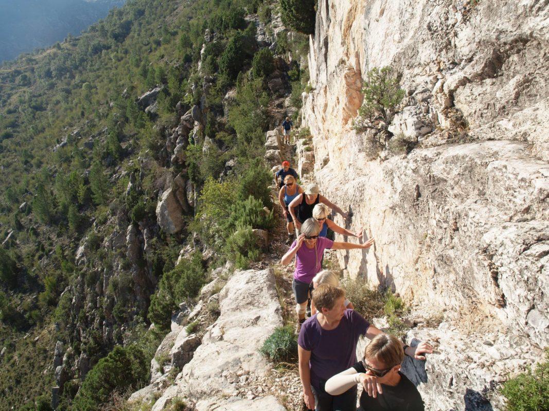Violent topography Vallore cliff