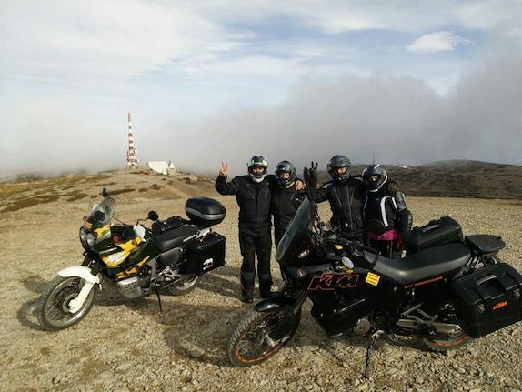 Templars by the roadside (car/motorbike)