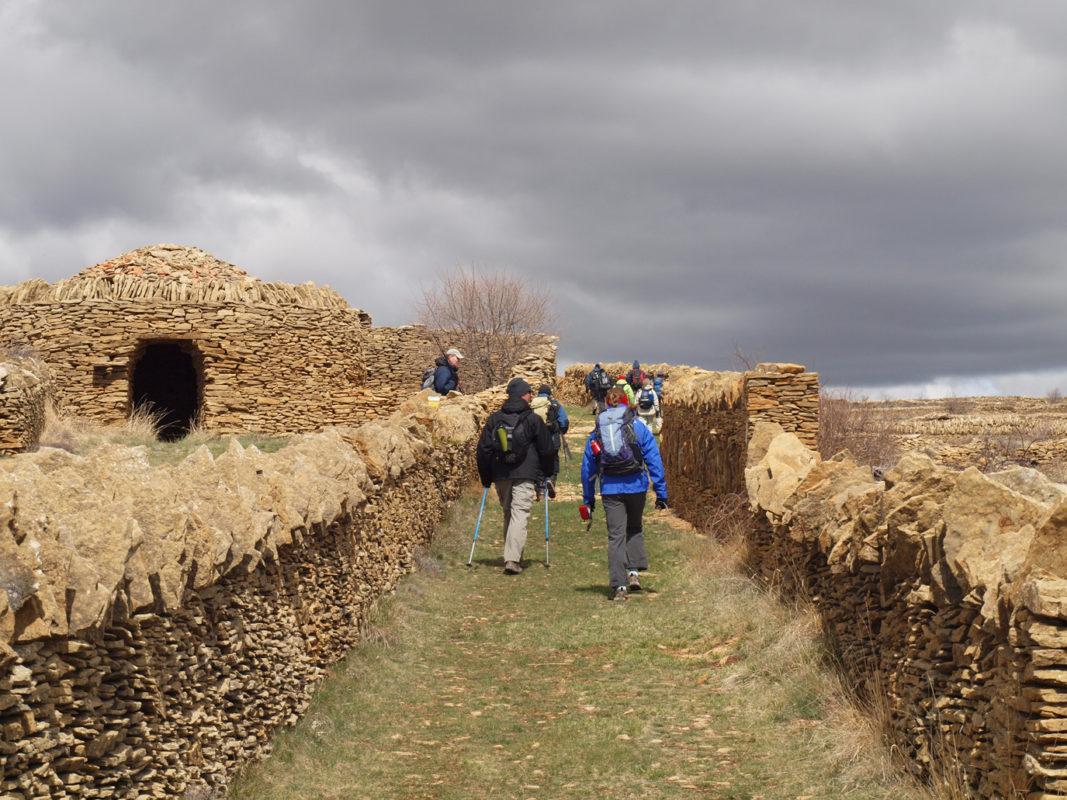 Dry stone walling Iglesuela del cid