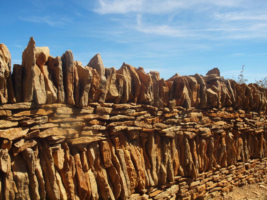 Dry stone walling in Spain
