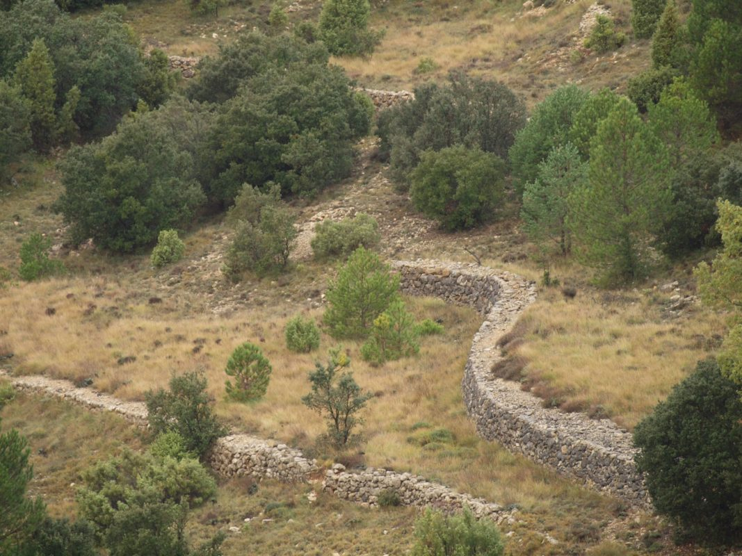 Traditional Spanish dry walling