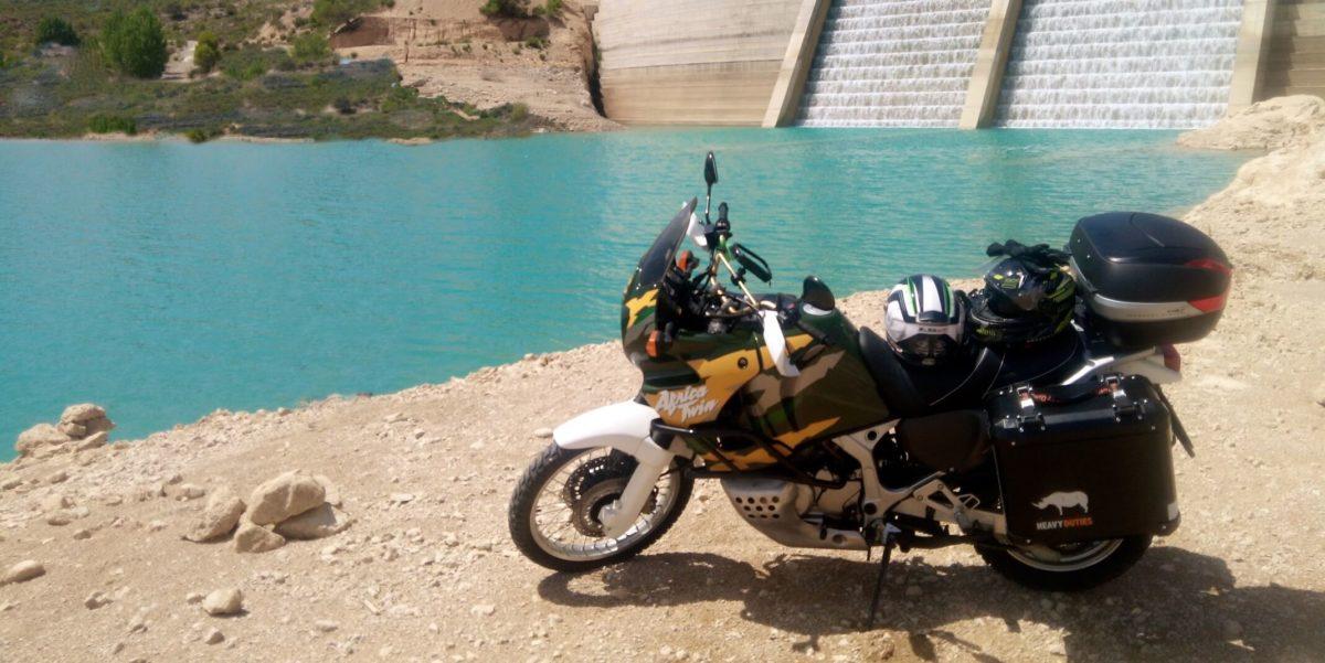 Castellote by motorbike
