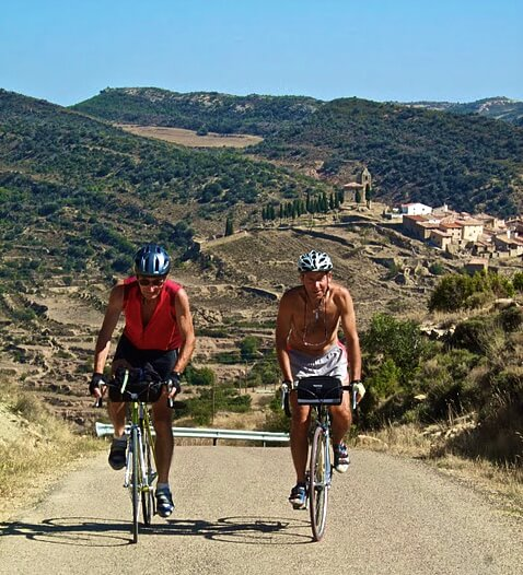 Cycling to Morella