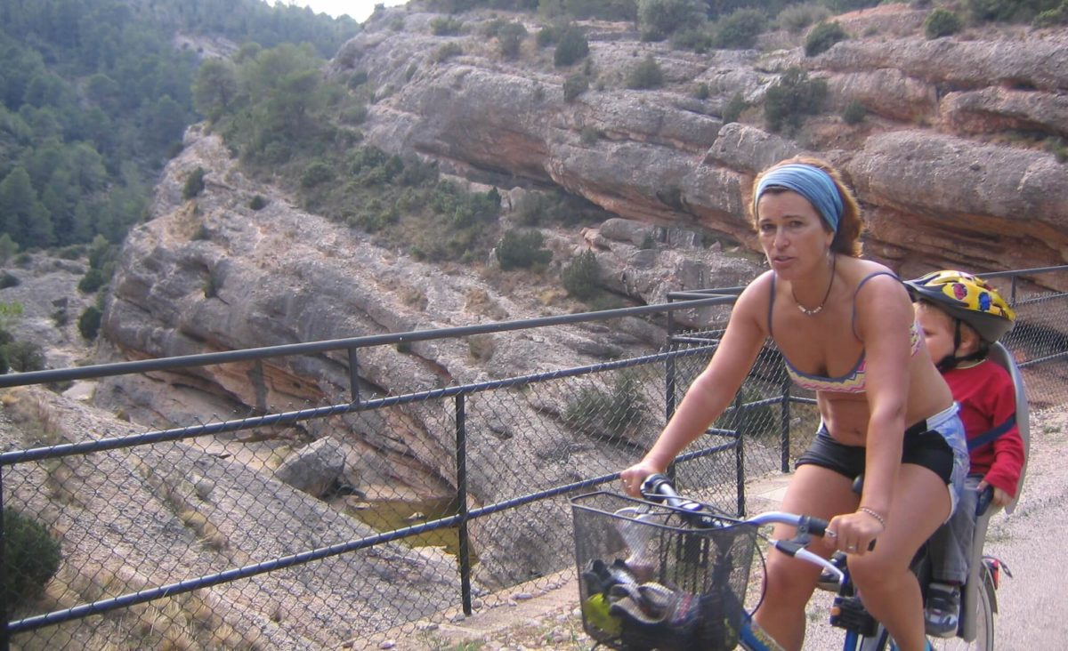 cycling with family Spain