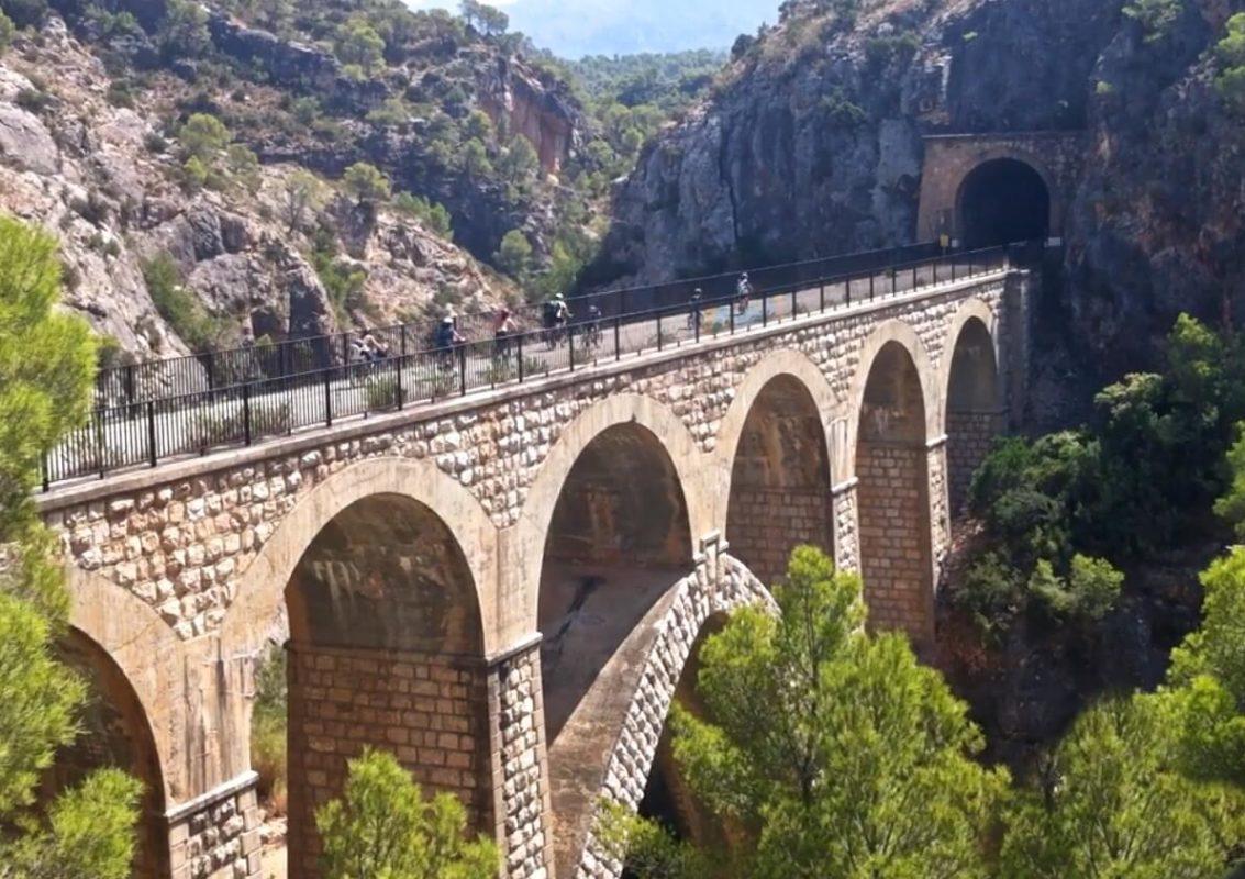 Viaduct greenway cycling